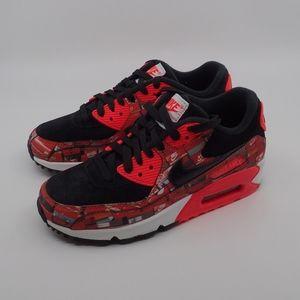 Nike Air Max 90 Red Print Men's 4 - NIB